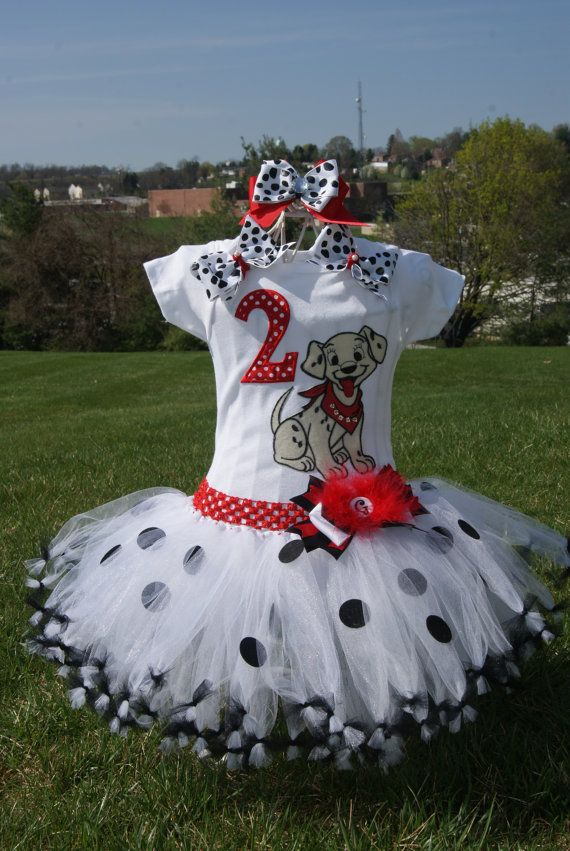 101 Dalmatians Birthday tutu-- Halloween tutu -- Dress up tutu (your choice of Number) via Etsy