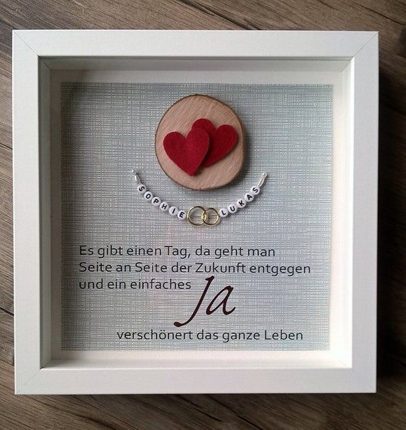 """Wedding Gift Picture """"Rings"""" in Frame Rings Special Edition"""