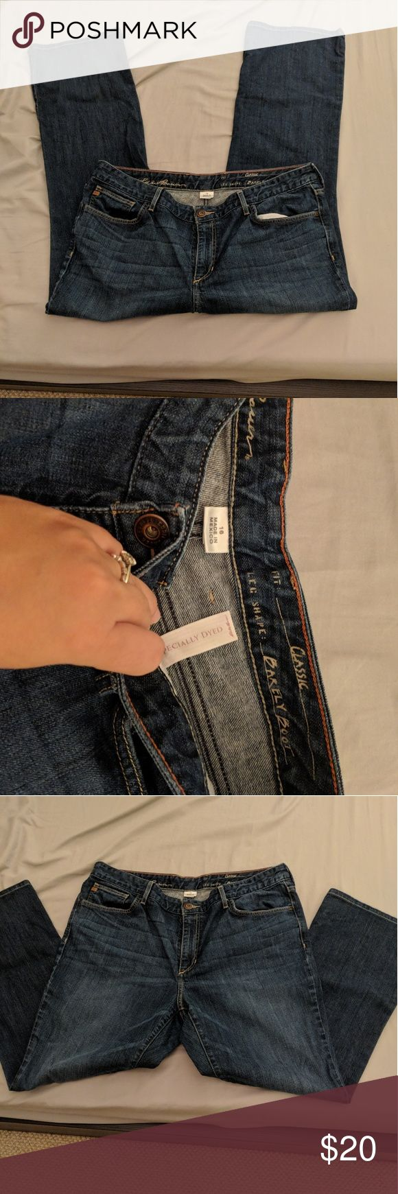 Eddie Bauer Womens Jeans Fit Classic, Leg Shape Barely