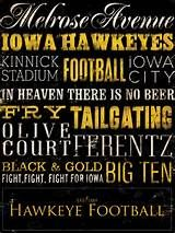 Iowa Hawkeyes football canvas