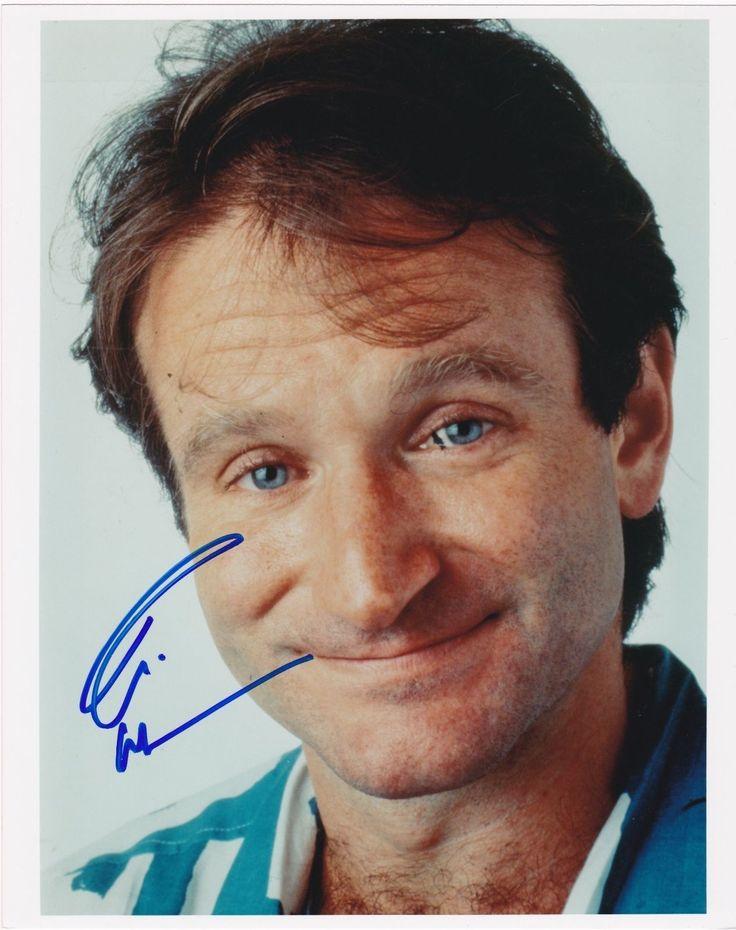 Robin Williams signed photo