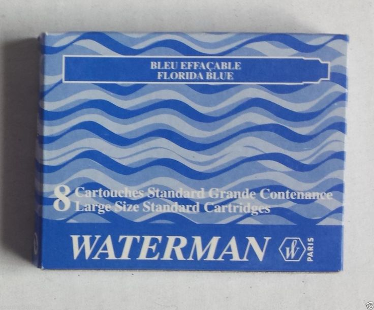 #Waterman fountain pen 1 pack 8 cartridges BLUE-FLORIDA color ink NIB visit our ebay store at  http://stores.ebay.com/esquirestore