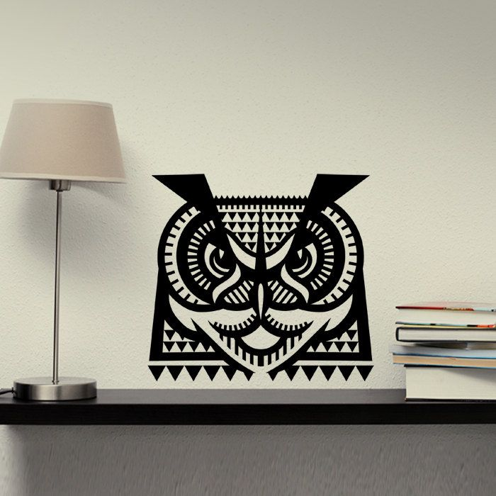 Wall Decal Owl, Home Decor, Vinyl Sticker Decal - Good for Walls, Cars, Ipads, Mirrors Etc by PSIAKREW on Etsy