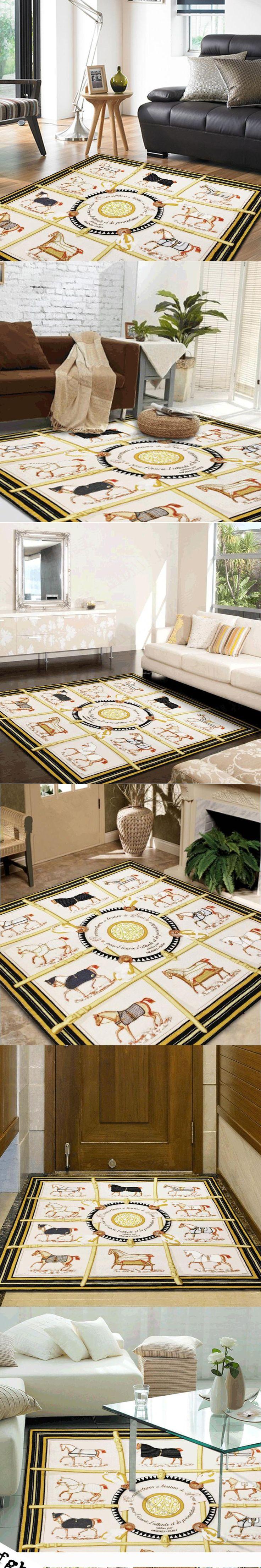 150cm High-grade H scarves same paragraph carpet modern minimalist living room square carpet bedroom floor mat entrance door pad