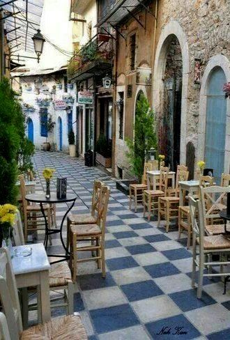 Alley in Ioannina City, Epirus, Greece