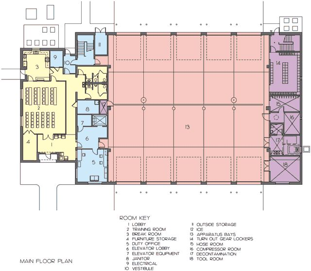 17 best images about fire station on pinterest oakley and site plans for Fire station floor plans design