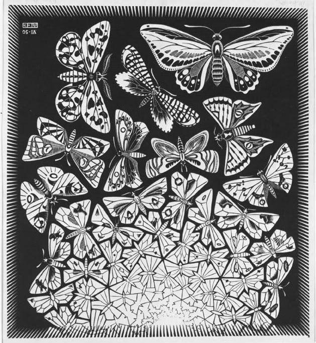 Escher butterflies escher pinterest obras de arte for Pinterest obras de arte