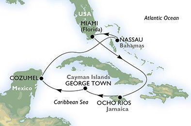Verenigde Staten, Jamaica, Kaaiman Eilanden, Mexico, Bahamas