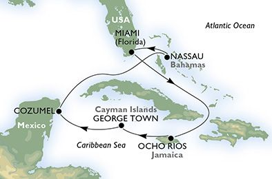 Itinerary - Holistic Cruise Ports - Holistic Holiday at Sea