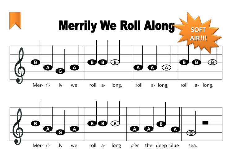 we roll along music notes for recorder - Google Search | Ocarina Music ...