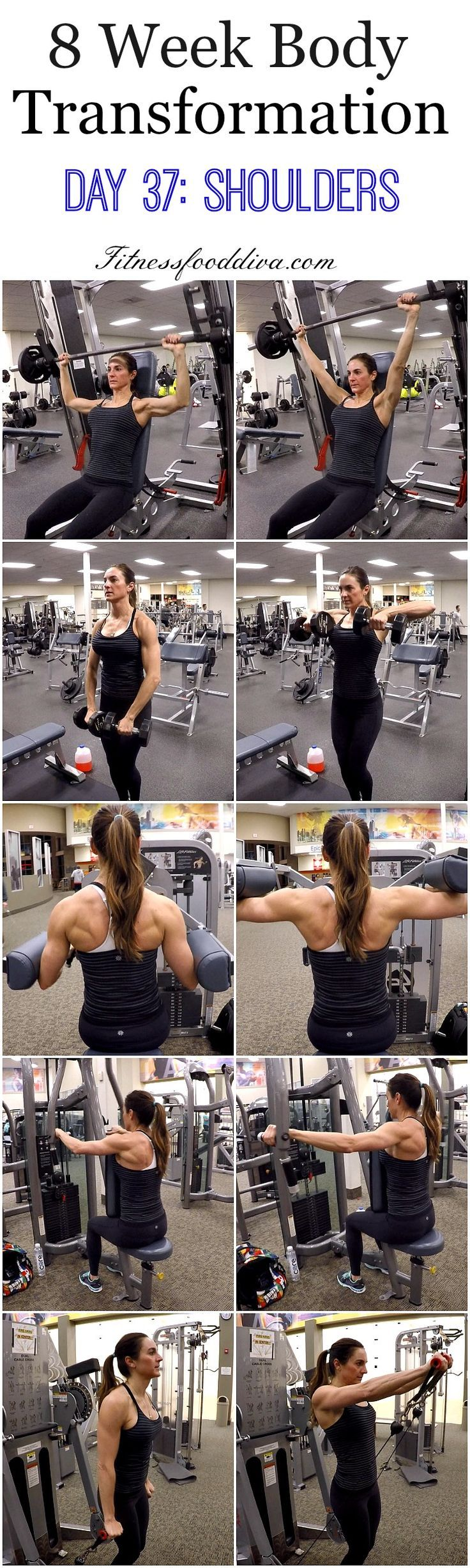 nice 8 Week Body Transformation: Day 37 Shoulders....