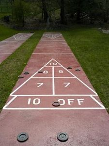 DIY Shuffleboard Court » This might be my summer project... hmmm...