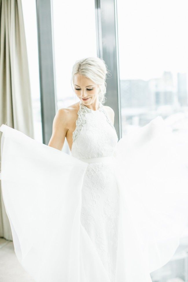 Karen Willis Holmes, Johanna dress / Clarisse train Size 8 Wedding Dress   Available preloved on Still White