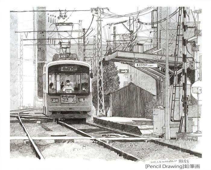 2 pencil drawing鉛筆画 masato watanabe