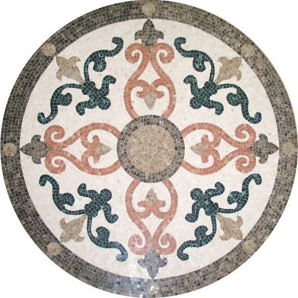 Carrelage en marbre de la mosa que m daillon mod les de for Carrelage mosaique pour sol