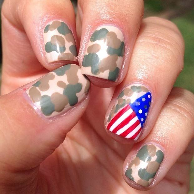 38 best military nail art images on pinterest military nails 29 fantastic fourth of july nail design ideas prinsesfo Image collections