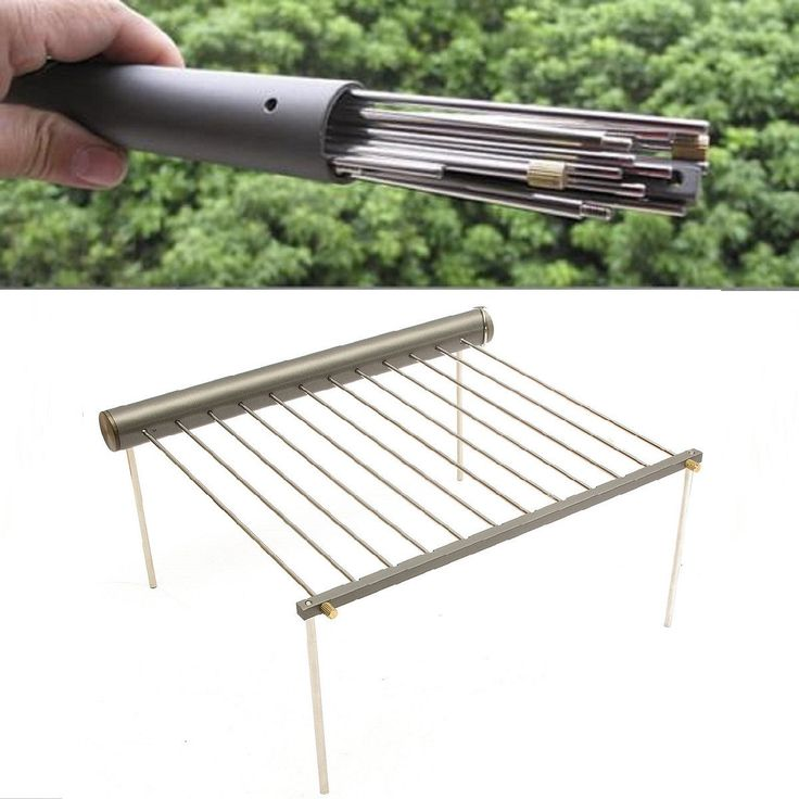 Outdoor Portable BBQ Grill Folding Barbecue Support Stand For Picnic Camping…