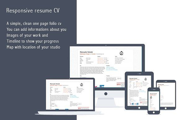 Curriculum vitae by Mango on @creativemarket