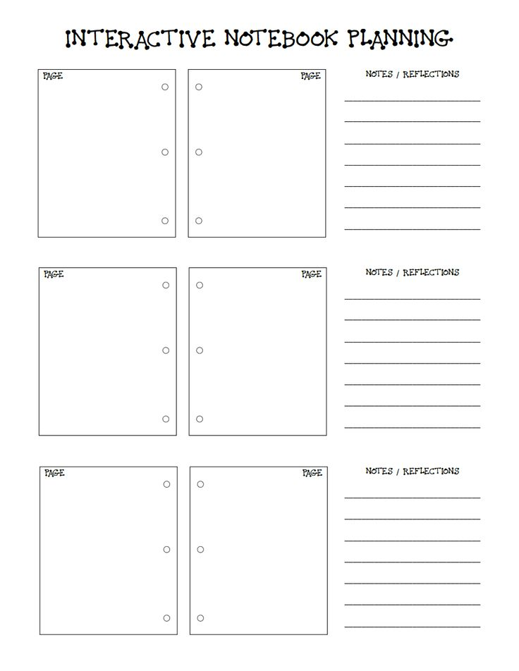 INTERACTIVE NOTEBOOK PLANNER for teachers. a PDF that can be used with any subject.