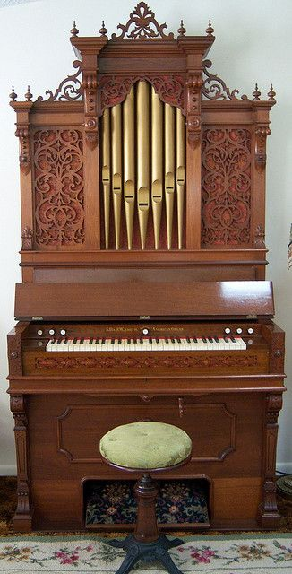 pipe top reed organ   My pipe top reed organ. Manufactured c. 1868 by S. D. & H. W. Smith in ...