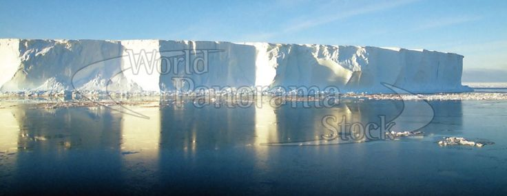 Panoramic image of Panorama of massive tabular icebergs, Ross Sea, Antarctica | World Panorama Stock Photo Agency