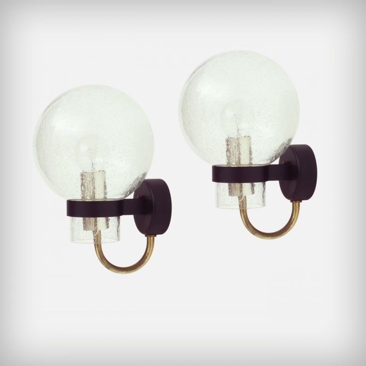 Pair Of Glashutte Limburg Wall Lamps 1960s