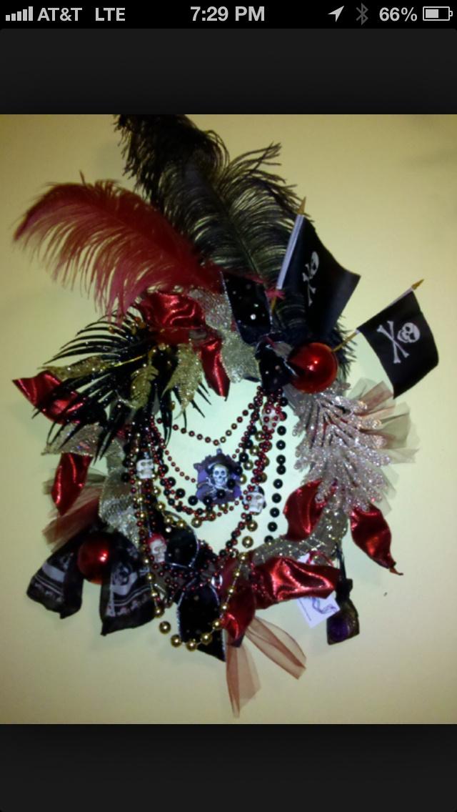 Gasparilla pirate wreath