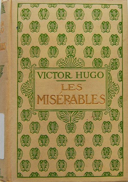 Cloth cover of Les misérables by Victor Hugo