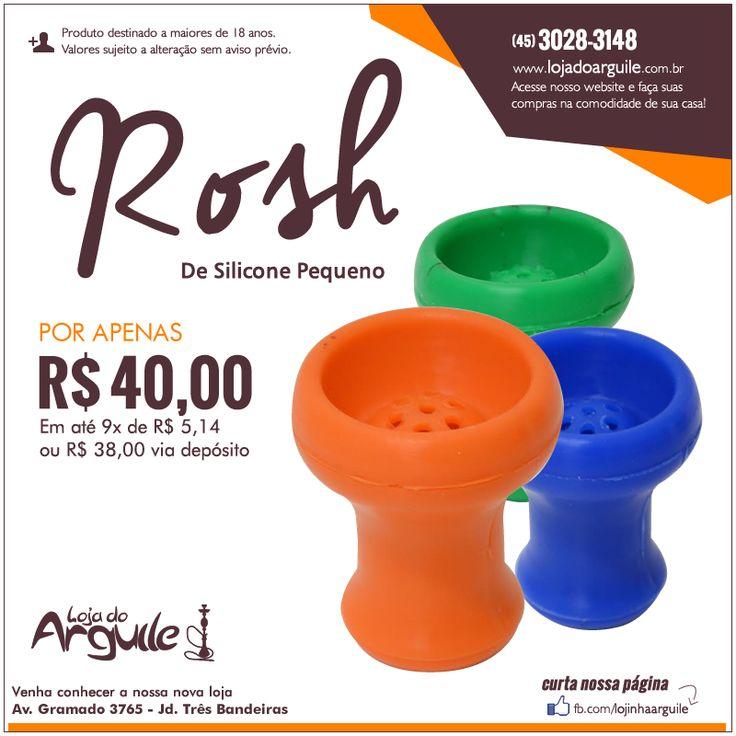 Rosh de Silicone Pequeno  POR APENAS R$ 40,00 Em até 9x de R$ 5,14 ou R$ 38,00 via depósito  Compre Online: http://www.lojadoarguile.com.br/rosh-de-silicone-pequeno-para-narguile