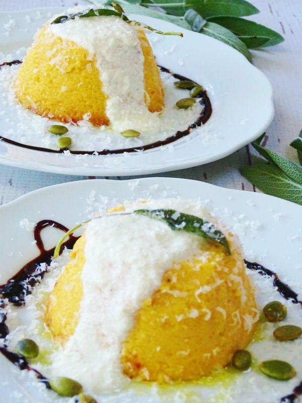 Autumn Sformato, a Savory Italian Custard with butternut squash and parmegiano. via proud Italian Cook