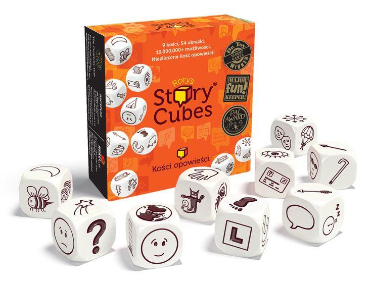 """9 kości, 54 obrazy, nieskończona ilość opowieści. Oto prosta w założeniach i jednocześnie genialna gra, która dostarczy wam masę radości, stanowiąc przy tym doskonały trening pomysłowości i wyobraźni. Story Cubes to dziewięć ładnie wykonanych, sześciennych kostek, z których każda zawiera na ściankach odmienny zestaw ilustracji.           Rzuć wszystkimi dziewięcioma kostkami. Rozpocznij swoje opowiadanie od """"Dawno, dawno..."""