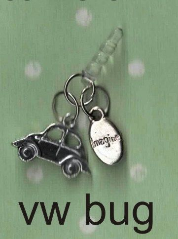 vw beetle iphone charm dust plug charm earjack by icasecouture, $6.50