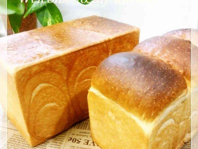 山型食パン&角食パン(生地作りはHBで)の画像