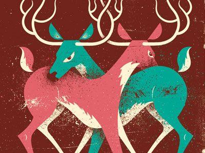 Deer illustration: Deer Illustrations, Fight Illustrations