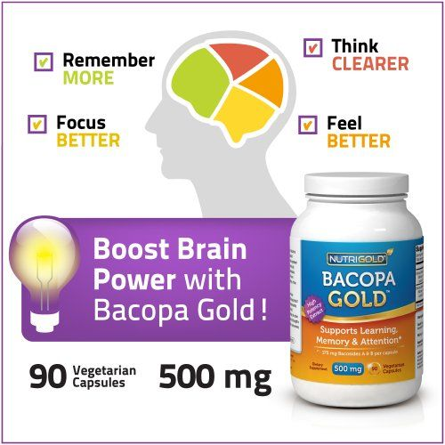Nutrigold Bacopa Gold (Clinically-proven BacoMind), 500 mg, 90 veg. capsules | Multicityhealth.com  List Price: $28.95 Discount: $12.00 Sale Price: $16.95