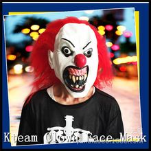 Hot Sale Halloween Party Cosplay Funny Halloween Latex scary clown mask with red hair Jester joker face Mask Costume dress //Price: $US $15.97 & FREE Shipping //     #cosplay