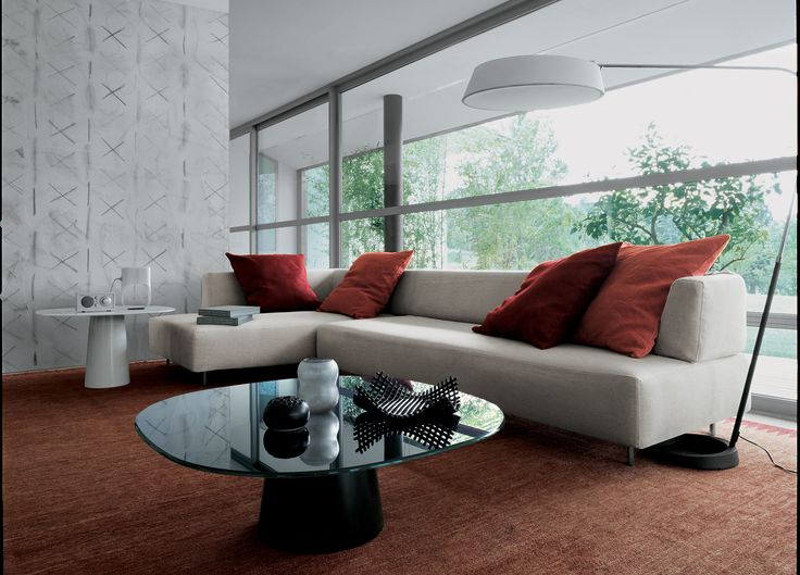Living room with Totem coffee table http://bit.ly/1Da6mD1 design Lievore Altherr Molina