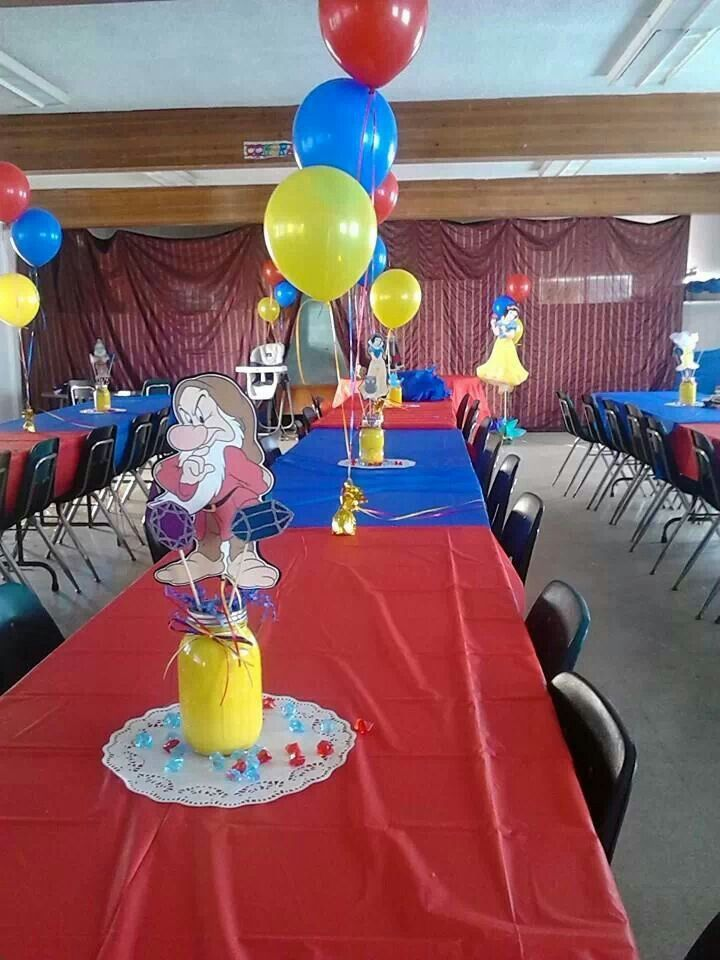 Snow white party decorations birthday