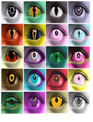 Evil creepy monster creature womens eyes digital download for Monster contact