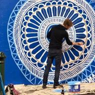 .: Aussies Artists, Street Mandala, Street Art, Doilies Inspiration, Grogan Murals, Art Murals, Artists Lucas, Grogan Paintings, Lucas Grogan