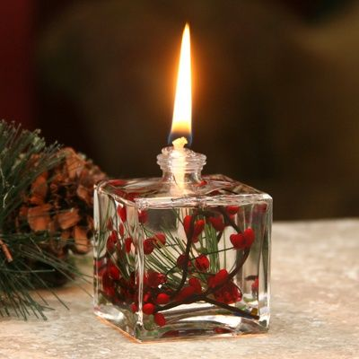 Red Berry Fern Cube Oil Lamp Oil Candles Oil Lamps Oil