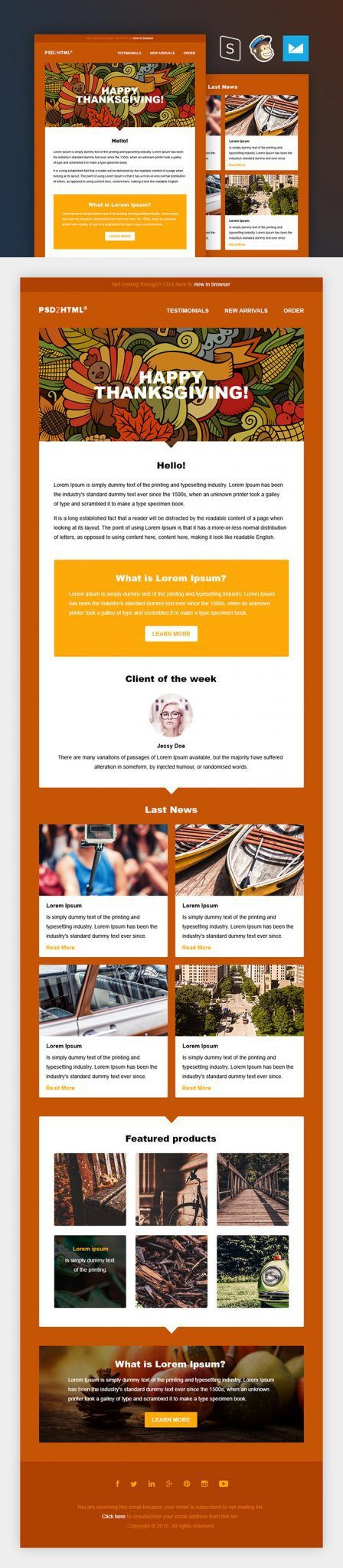 The 25 best mailchimp newsletter templates ideas on pinterest email newsletter design email for Free mailchimp newsletter templates