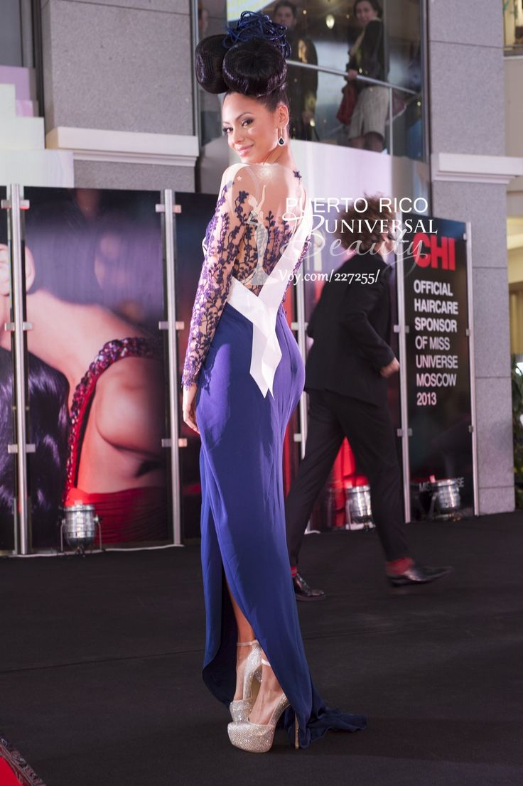 Monic Perez Miss Universe Puerto Rico 2013 At The CHI Hair Show Atryum Mall In Moscow Russia On Sunday October