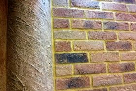 Vandersanden Bricks on wall in apartment