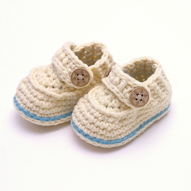 cream and teal sailor boots 0 to 3 months por blissfulmondays