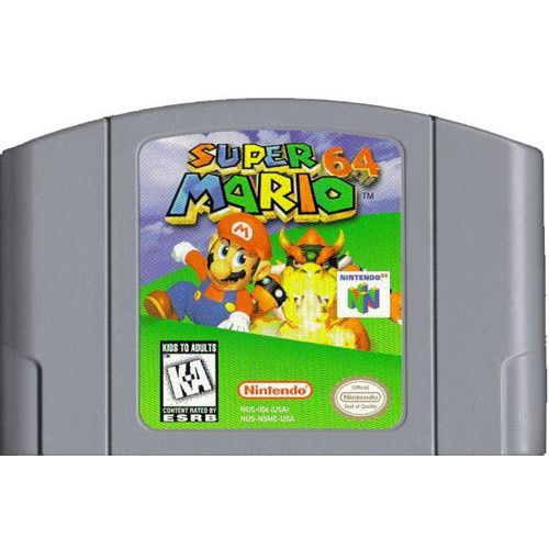 Super Mario 64 Nintendo 64 used video game cart for sale. Original Nintendo, Collectible condition, 120 warranty, Low prices, Leave/read reviews, Buy online.