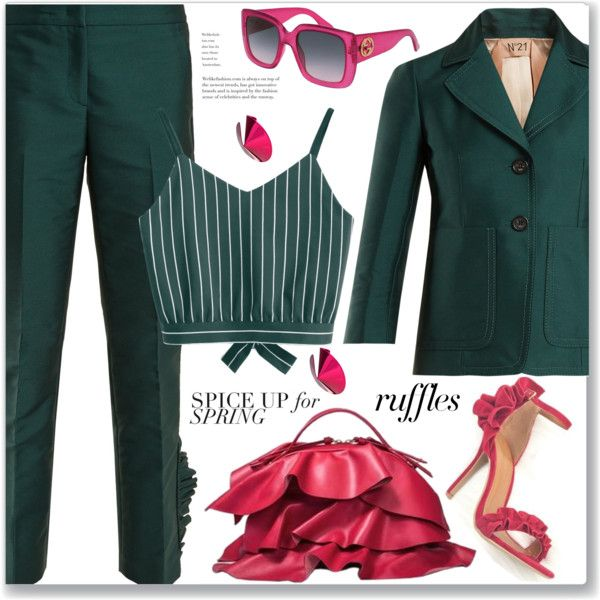 Work Wear by jecakns on Polyvore featuring N°21, Borbonese, Gaviria and Gucci