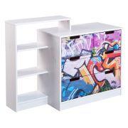 Beautiful Home Angebote Kommode Graffiti Kiefer teilmassiv Wei Bunt InterlinkIhr QuickBerater