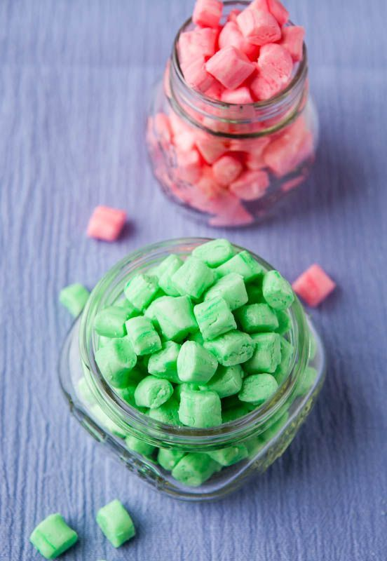 "Homemade Old-Fashioned Butter Mints. Smooth melt-in-your-mouth 'after dinner' mints ""like my grandma kept in her candy jar."" Easy, no bake!"