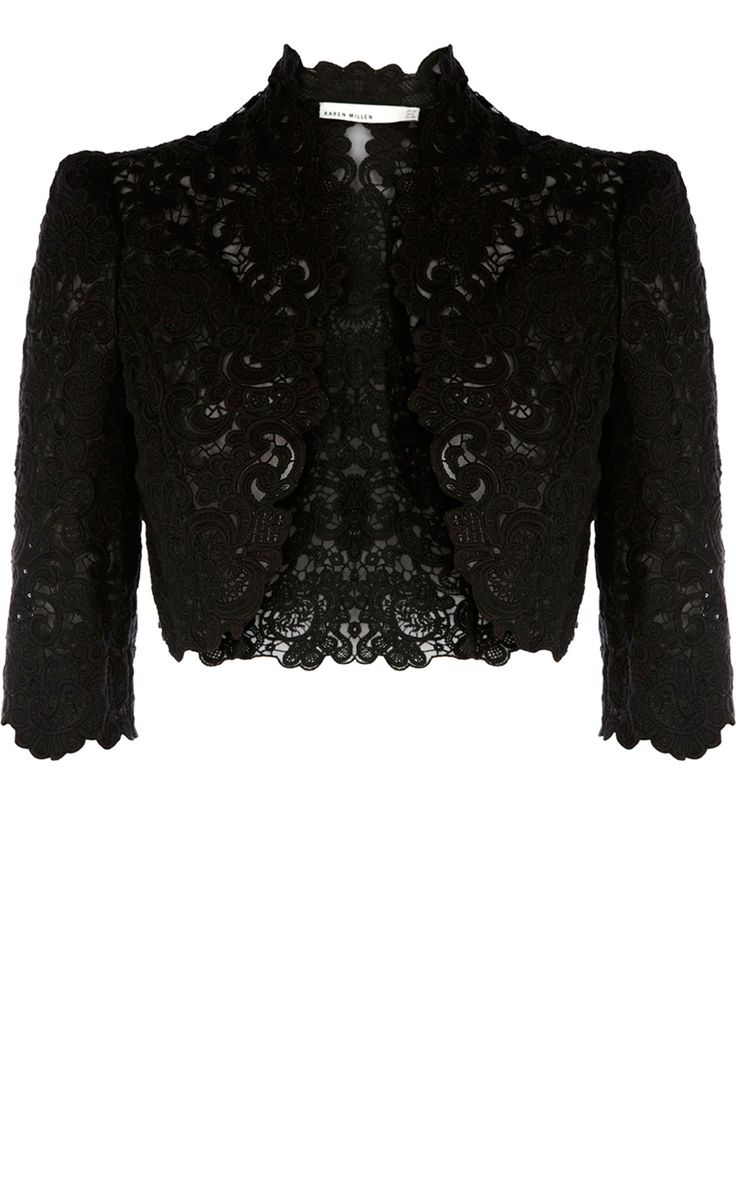 Karen Millen BEAUTIFUL COTTON LACE JACKET Style Code ...